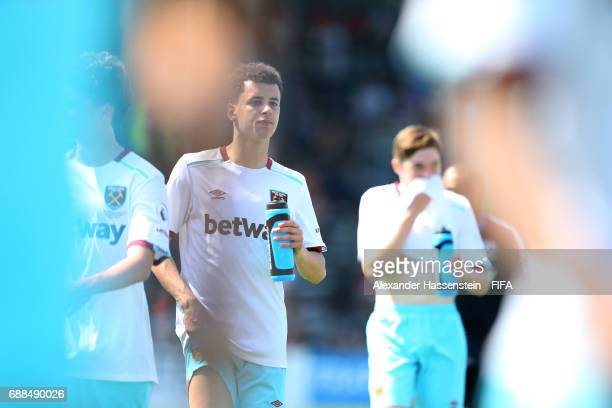 Players of West ham Untited on day two of the Blue Stars/FIFA Youth Cup 2017 at the Buchlern sports complex on May 25 2017 in Zurich Switzerland