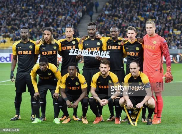 Players of Young Boys David Von Ballmoos Steve von Bergen Miralem Sulejmani Djibril Sow Nicolas Moumi Ngamaleu Christian Fassnacht Roger Assale Kasim...