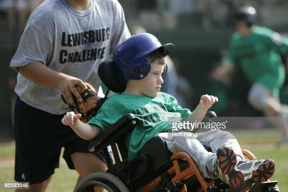 Players participating in the the Little League World Series Challenger Game at Lamade Stadium in Williamsports Pennsylvania on August 25 2007