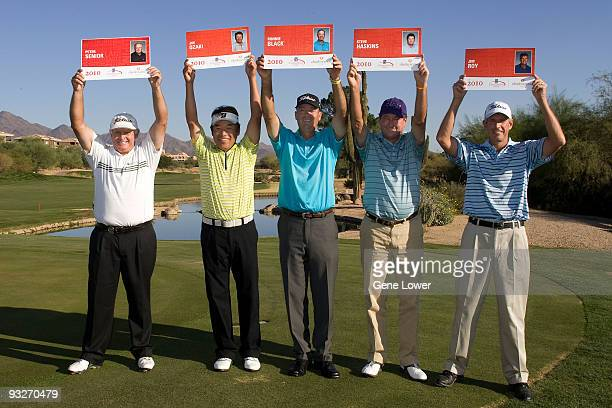 Players Peter Senior Joe Osaki Ronnie Black Steve Haskins and Jim Roy received their Qualifying cards at the 2009 Champions Tour National Qualifying...