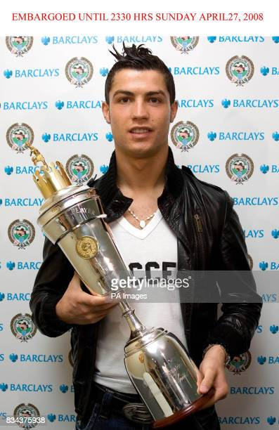PFA Players Player of the Year award winner Cristiano Ronaldo at Carrington Manchester