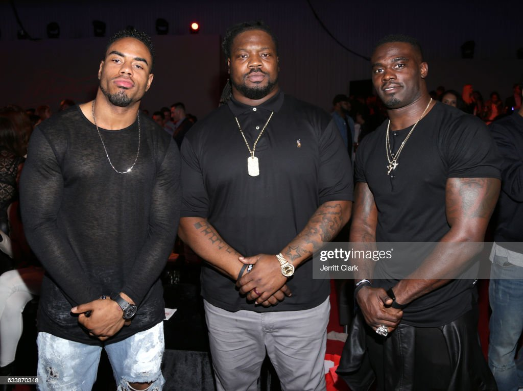 NFL players Rashad Jennings, Damon Harrison, and James Ihedigbo at the Rolling Stone Live: Houston presented by Budweiser and Mercedes-Benz on February 4, 2017 in Houston, Texas. Produced in partnership with Talent Resources Sports.