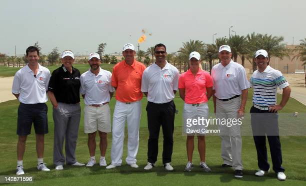 Players Tim Henman of England Colin Montgomerie of Scotland Gianluca Vialli of Italy Thomas Bjorn of Denmark Ruud Gullit of The Netherlands Suzann...
