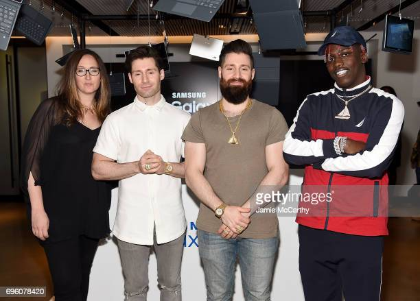 Players' Tribune founder Jaymee Messler APL Founders Ryan Goldston and Adam Goldston with Lil Yachty attend the Samsung Galaxy Book Launch at Samsung...