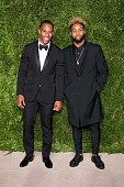NFL players Victor Cruz and Odell Beckham Jr attend the 12th annual CFDA/Vogue Fashion Fund Awards at Spring Studios on November 2 2015 in New York...