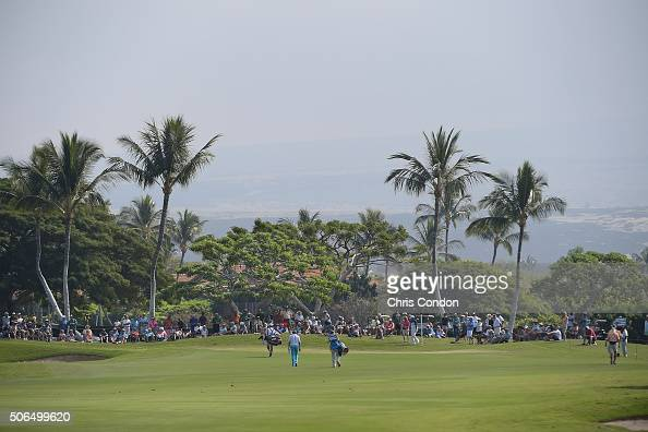 KA'UPULEHUKONA HI JANUARY 23 Players walk to the first green during the final round of the PGA TOUR Champions Mitsubishi Electric Championship at...