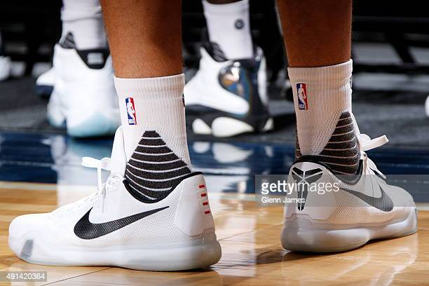 Players wear the new Stance socks during the Dallas Mavericks 'Fan Jam' on October 4 2015 at the American Airlines Center in Dallas Texas NOTE TO...