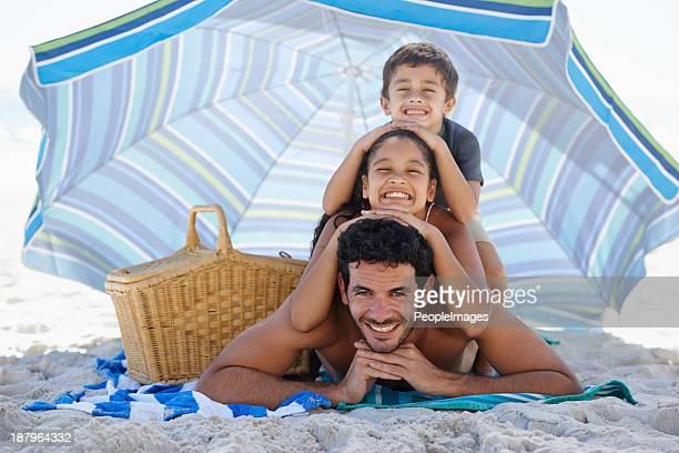 Verspielte am Strand