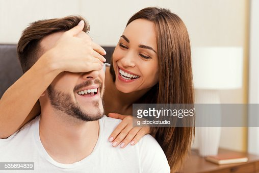 Playful couple. : Stock Photo