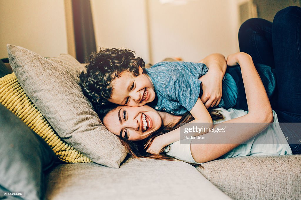 Playful family : Stock Photo