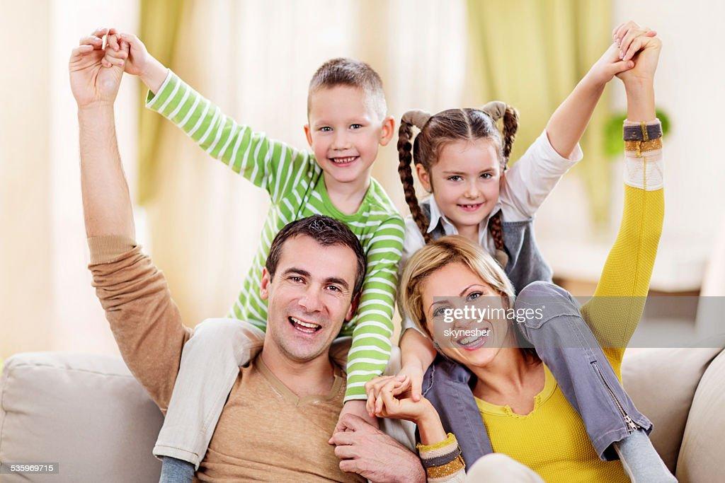 Playful family. : Stock Photo
