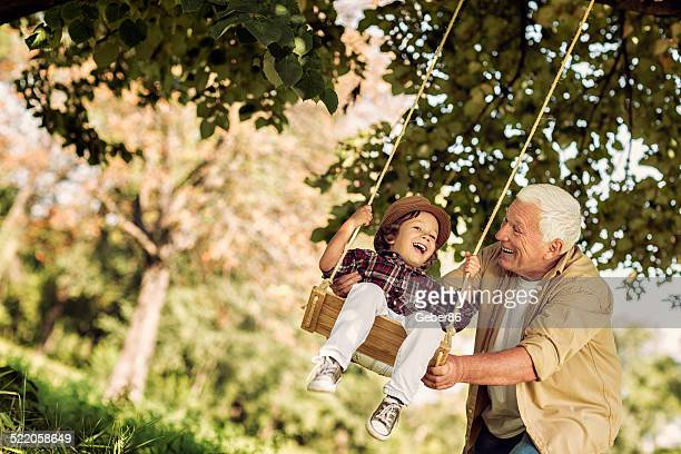 Playful grandfather