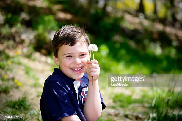 Playful portrait of a boy with special needs