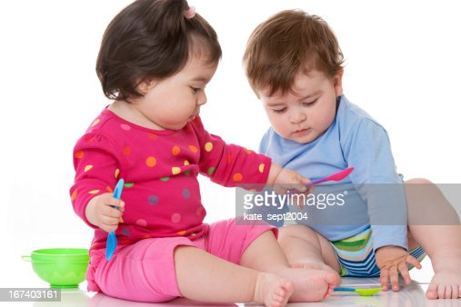 Playful toddlers : Stock Photo