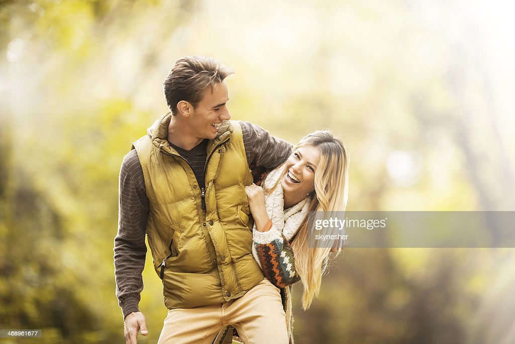 Playful young couple. : Stock Photo