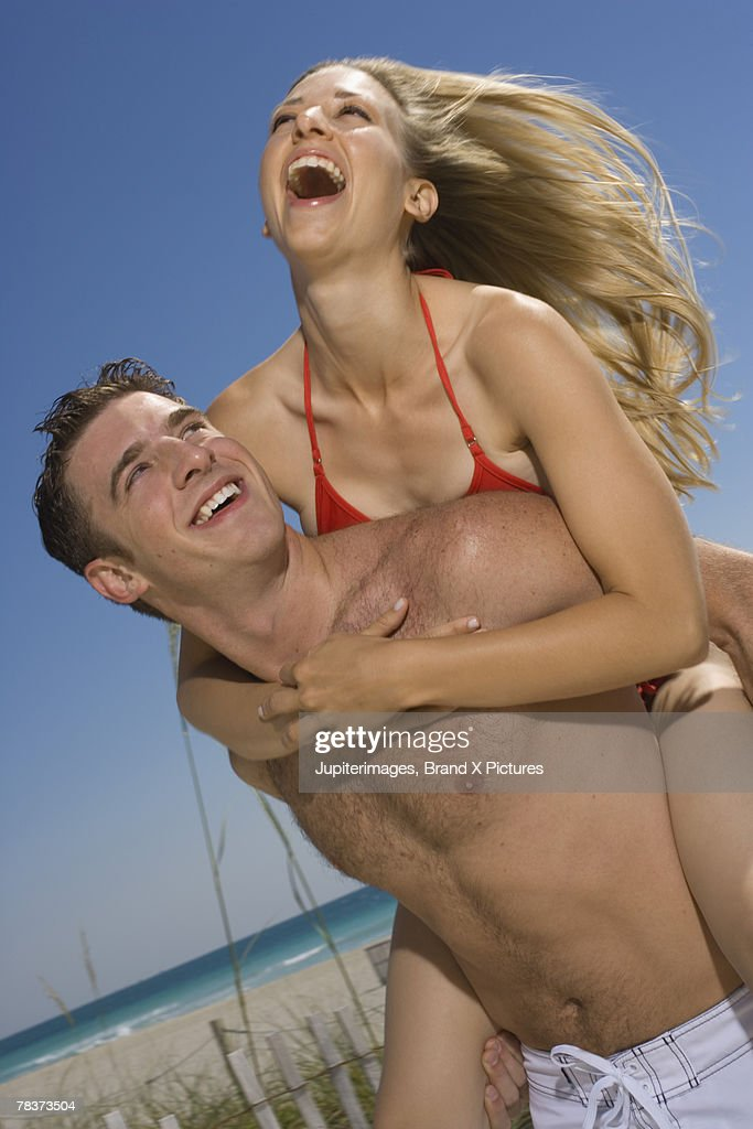 Playful young couple : Stock Photo
