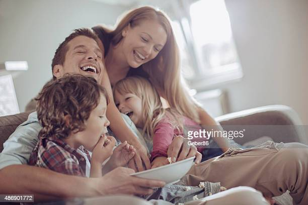Playful young family
