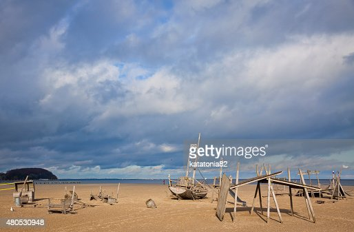 Spielplatz am Strand in Travemuende : Stock-Foto