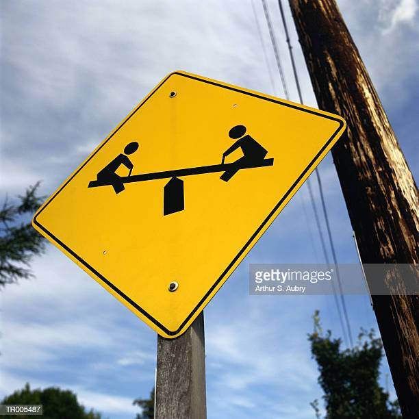Playground Road Sign