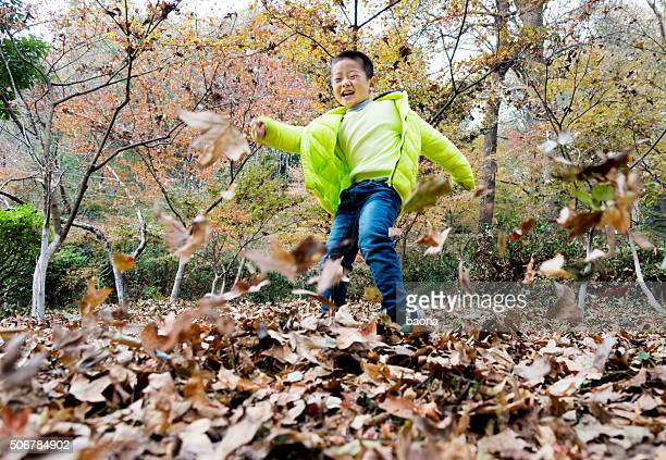 Playing at fall