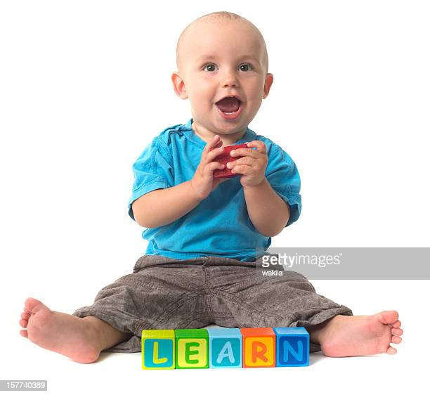 playing Baby - learning blocks