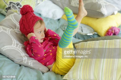 Playing baby : Stockfoto