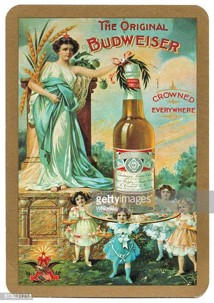 Playing card back alcohol advertising the original Budweiser