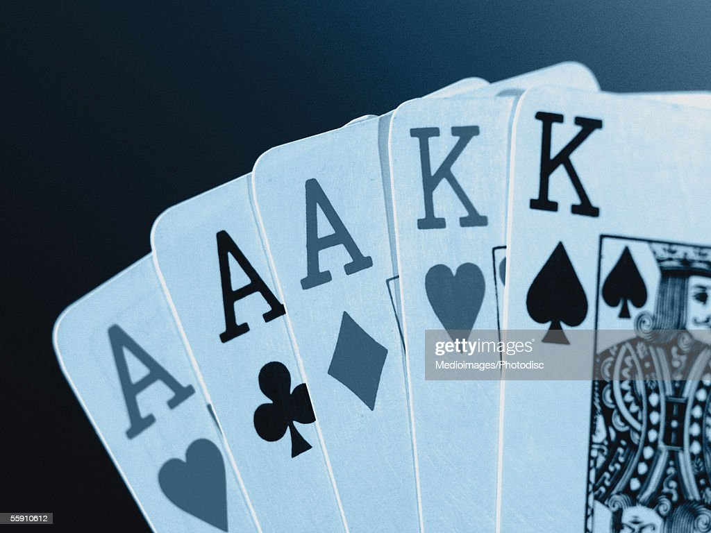 Playing cards, close-up : Stock Photo