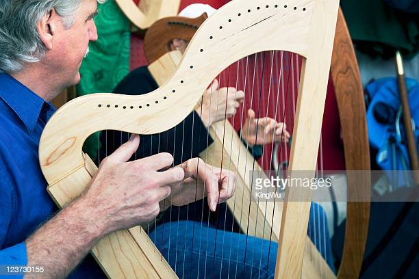 Playing Celtic Harp