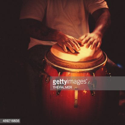playing congas