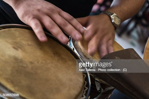Playing drums : Stock Photo