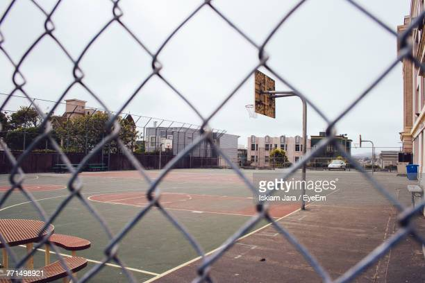 Playing Field Seen Through Chainlink Fence