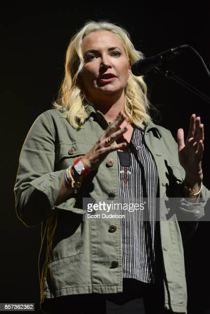 Playing for Change founder Whitney Kroenke appears onstage during the We are One Benefit concert at The Mayan on October 3 2017 in Los Angeles...