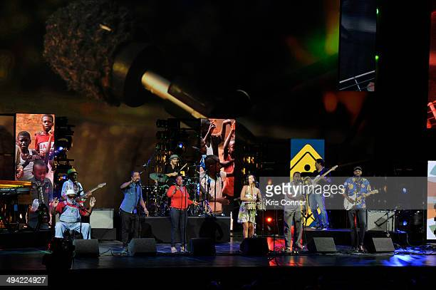 Playing for Change performs during YouTube On Stage Live from the Kennedy Center at The John F Kennedy Center for Performing Arts on May 28 2014 in...