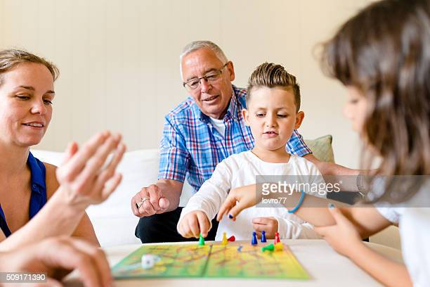 Playing games with family