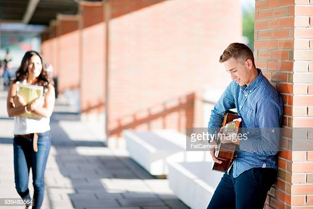 Playing Guitar After Class
