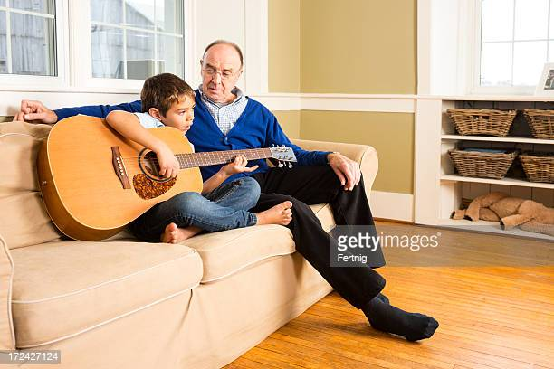 Playing guitar with granddad