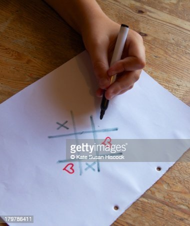 playing hearts and crosses : Stock Photo