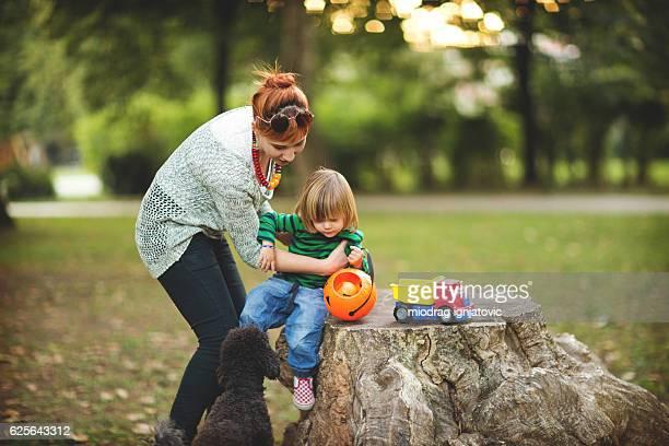 Giocando nel parco
