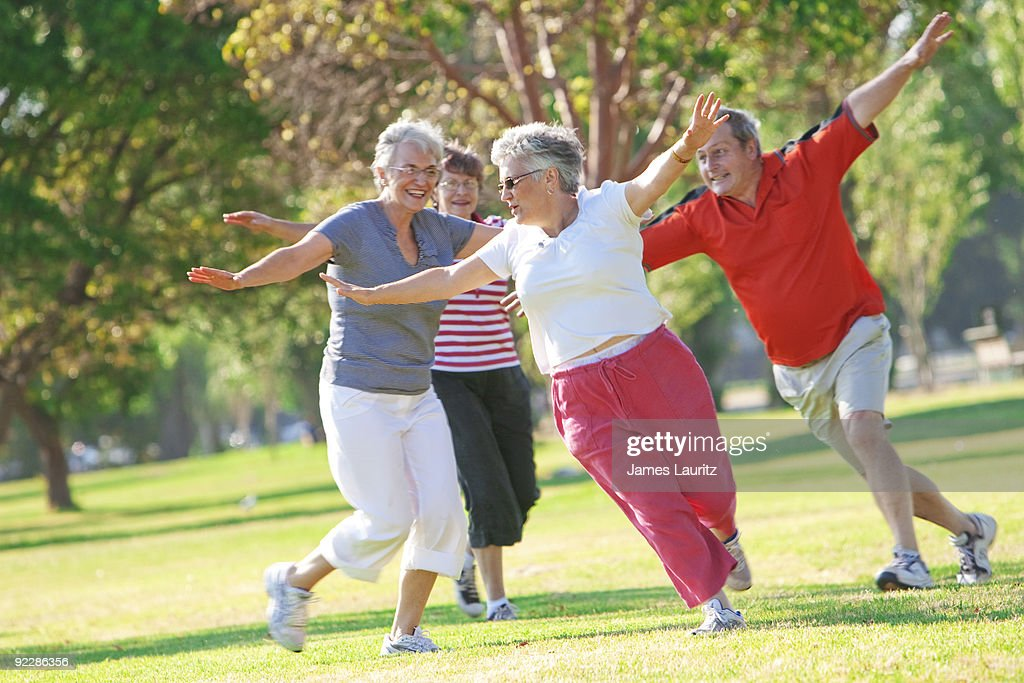 Playing ion the Park : Stock Photo