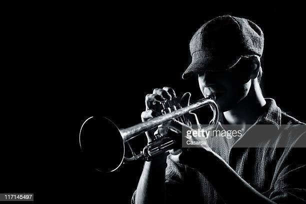 Playing on a trumpet