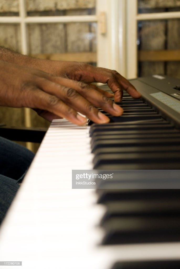 Playing Piano : Stock Photo