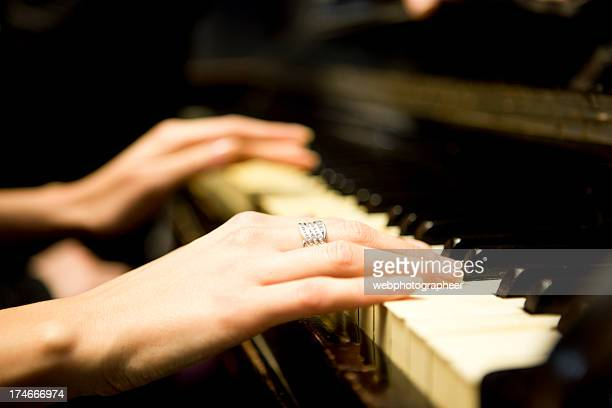 Jouant du piano