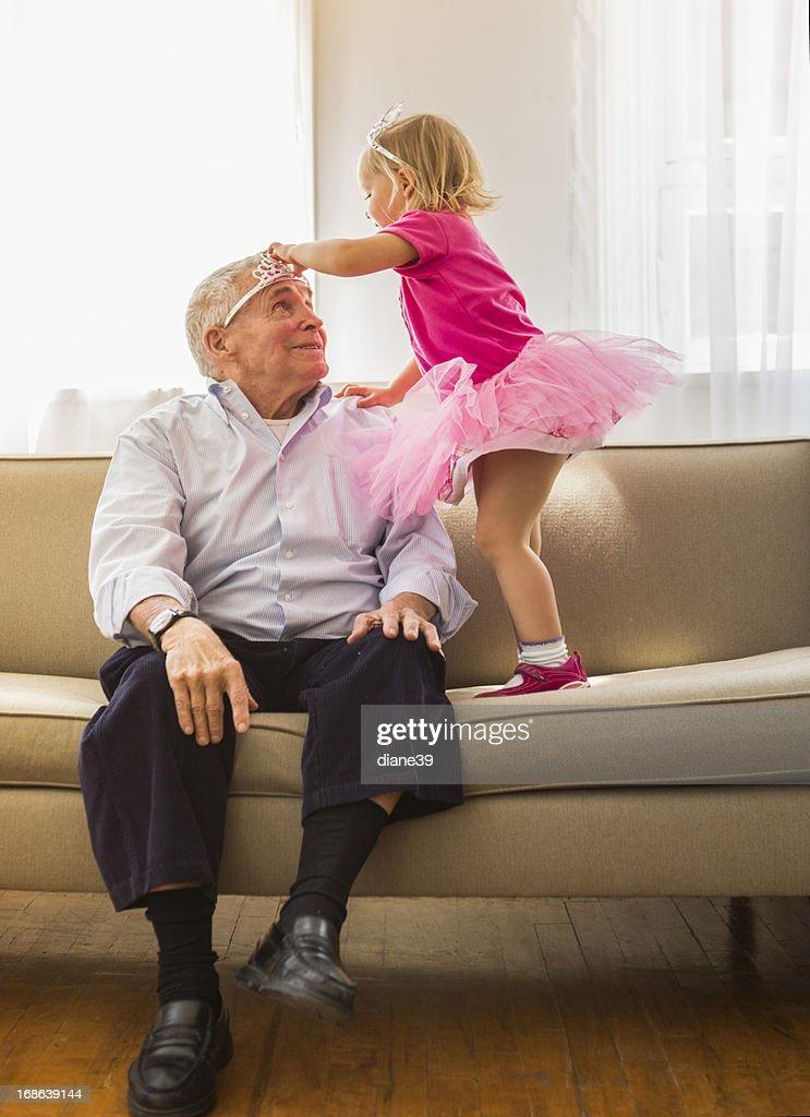 Playing princess with Grandpa