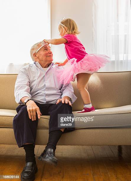 Playing princess with Grandpa