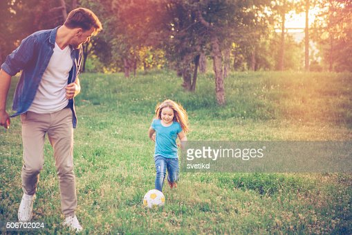 Playing Soccer with dad