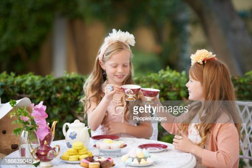 Playing tea party is fun