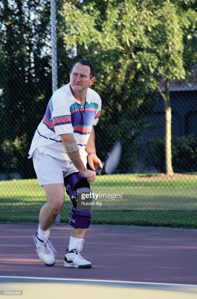 Playing Tennis with Knee Brace