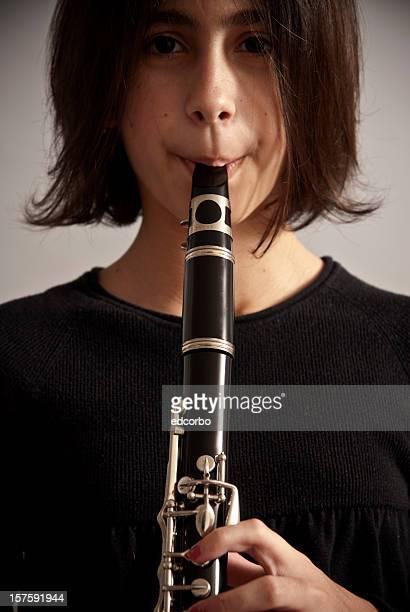 Jouant une Clarinette