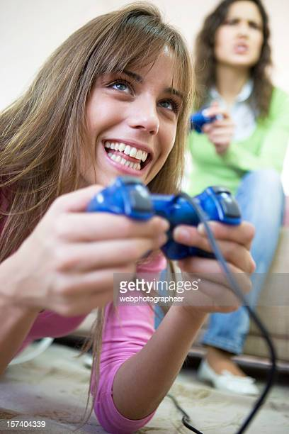 Playing video game XXL